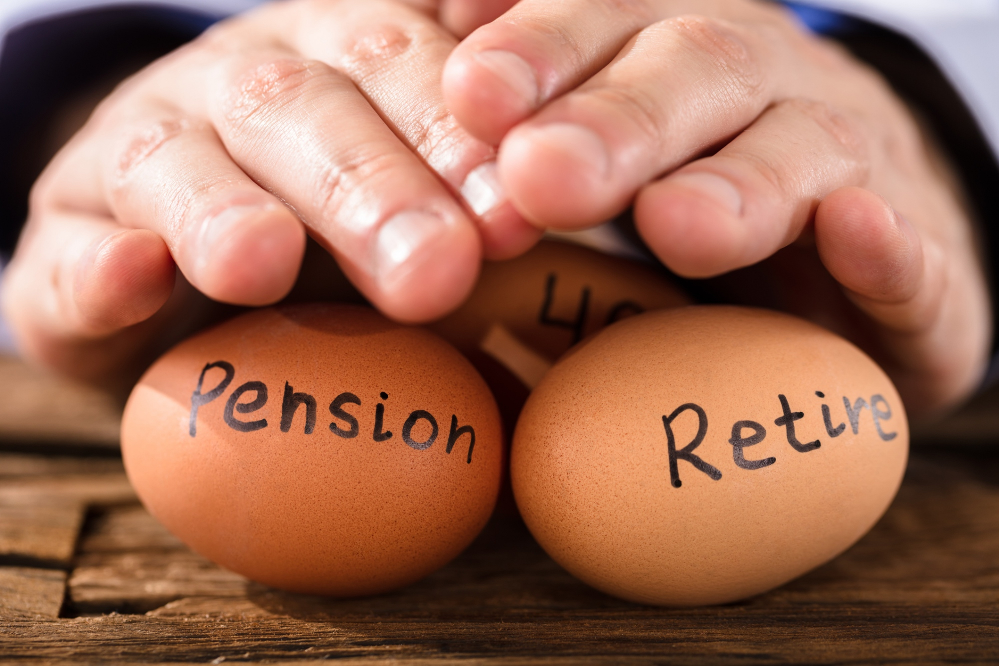 Protecting eggs that say pension and retire